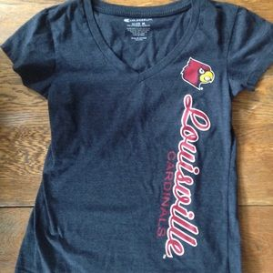 Louisville Cardinals V-neck Tee, M